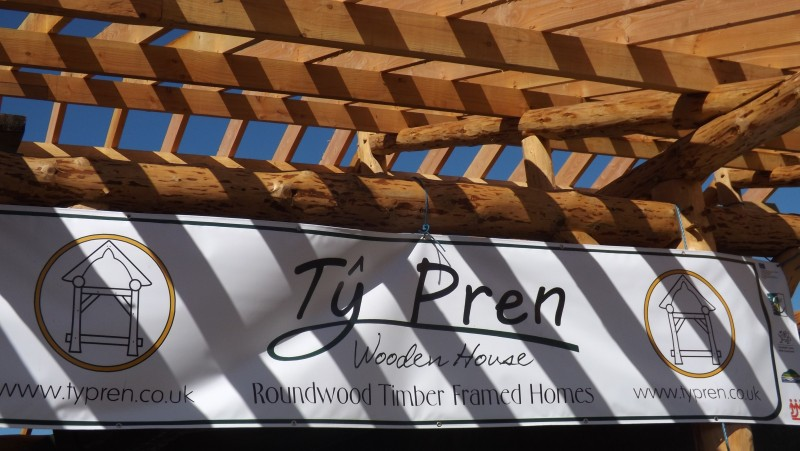 Ty Pren banner, working to help build a sustainable future.