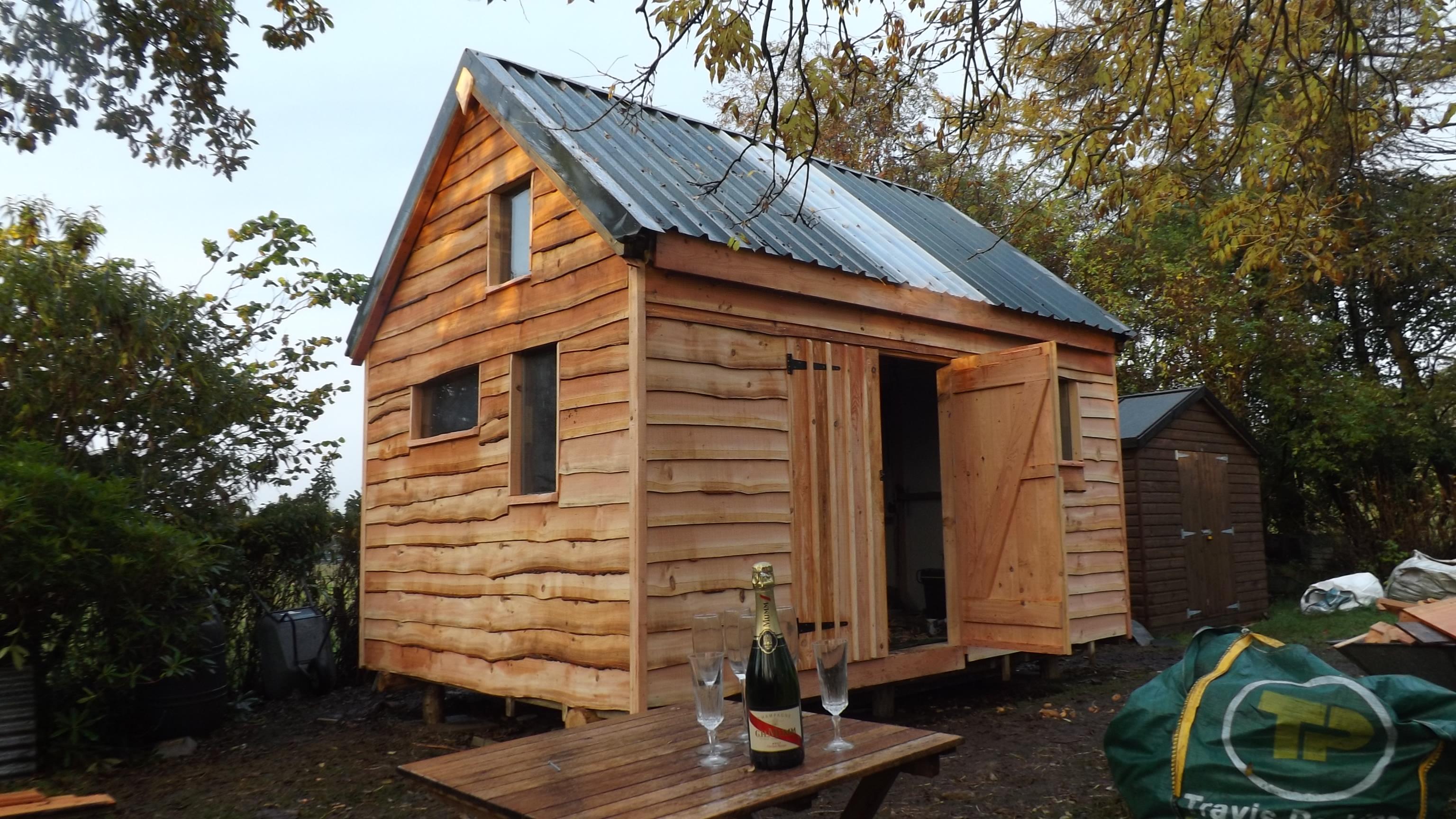 11' * 15' shed with mezzanine platform