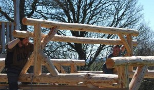 Roundwood Timber Framing course at C.A.T.